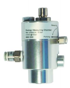 Transport measuring chamber + parking function, 0 ... 1.0 MPa, 6 mm quick coupling for hose inlet / outlet